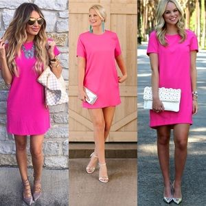 Felicity & Coco Hot Pink Shift Dress Size Medium